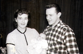 Arlene, Victor and Richard Stankiewicz in February, 1959.